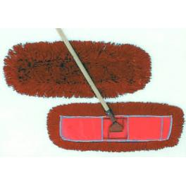 "72""DUST MOP w/RED POCKET BACKING  fits 5"" FRAME, 12/CS"